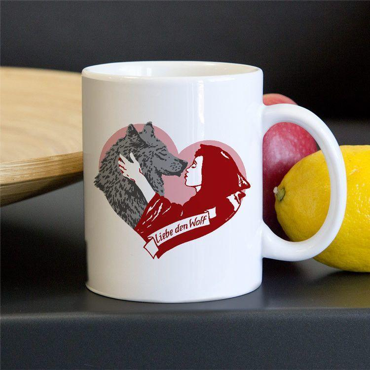 Liebe den Wolf (Love the Wolf) Mug by Brixton Doyle 11oz Mug Join the Pack
