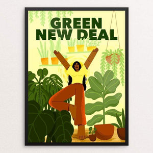 "Like A Tree, I Will Grow by Giselle Matz 18"" by 24"" Print / Framed Print Green New Deal"