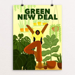 "Like A Tree, I Will Grow by Giselle Matz 18"" by 24"" Print / Unframed Print Green New Deal"