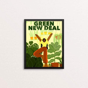 "Like A Tree, I Will Grow by Giselle Matz 8"" by 10"" Print / Framed Print Green New Deal"