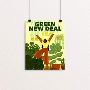 "Like A Tree, I Will Grow by Giselle Matz 8"" by 10"" Print / Unframed Print Green New Deal"