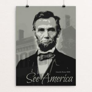 "Lincoln Home National Historic Site by Rendall M. Seely 12"" by 16"" Print / Unframed Print See America"