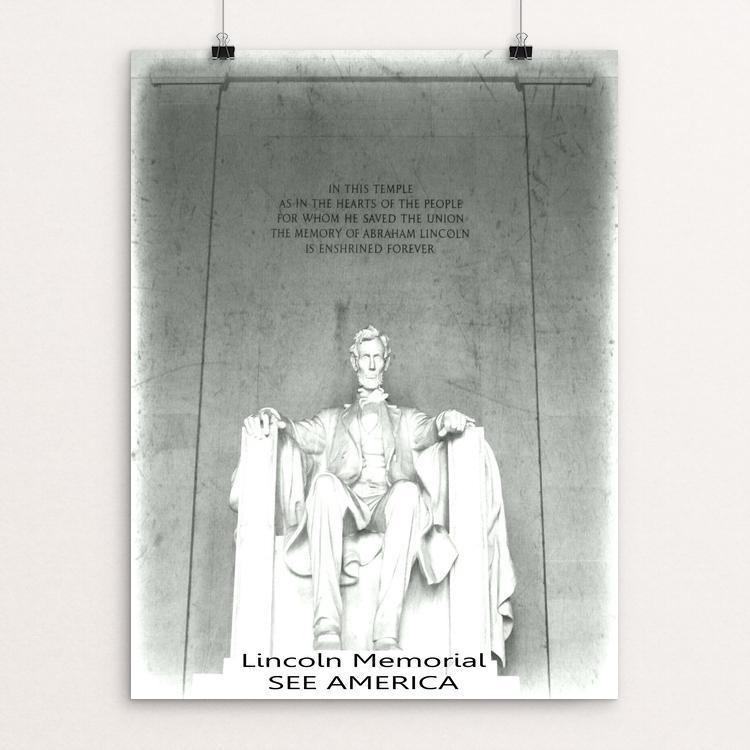 "Lincoln Memorial 2 by Bryan Bromstrup 12"" by 16"" Print / Unframed Print See America"