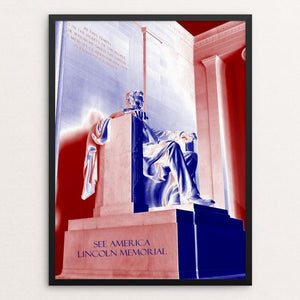 "Lincoln Memorial by Bryan Bromstrup 12"" by 16"" Print / Framed Print See America"