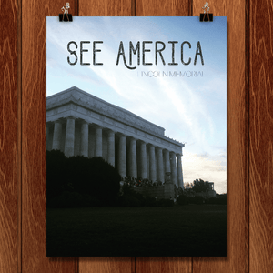 "Lincoln Memorial by Emily Corley 12"" by 16"" Print / Unframed Print See America"