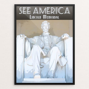 "Lincoln Memorial by Zack Frank 12"" by 16"" Print / Framed Print See America"