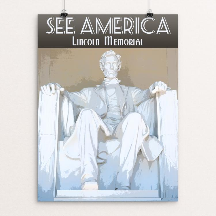"Lincoln Memorial by Zack Frank 12"" by 16"" Print / Unframed Print See America"