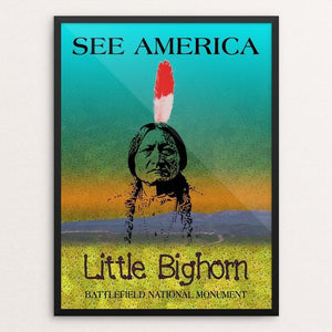 "Little Bighorn Battlefield National Monument by Bee Joy 12"" by 16"" Print / Framed Print See America"