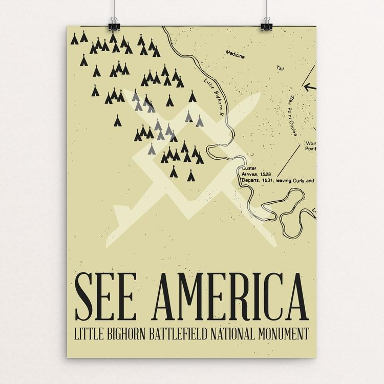 "Little Bighorn Battlefield National Monument by Dustin Bingaman 12"" by 16"" Print / Unframed Print See America"