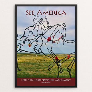 "Little Bighorn Battlefield National Monument by Jane Rohling 12"" by 16"" Print / Framed Print See America"