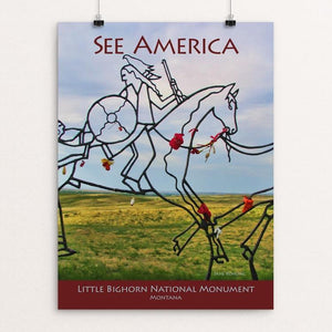 "Little Bighorn Battlefield National Monument by Jane Rohling 12"" by 16"" Print / Unframed Print See America"