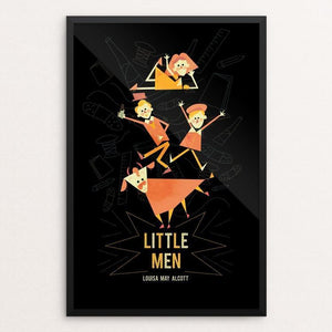 "Little Men by Renee Rolewicz 12"" by 18"" Print / Framed Print Recovering the Classics"