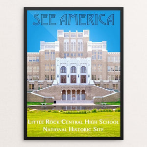 "Little Rock Central High School National Historic Site by Zack Frank 12"" by 16"" Print / Framed Print See America"