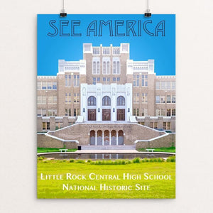 "Little Rock Central High School National Historic Site by Zack Frank 12"" by 16"" Print / Unframed Print See America"