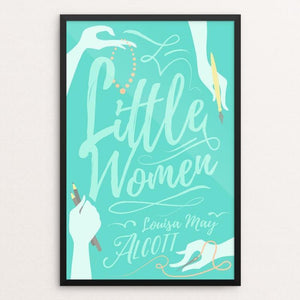 "Little Women by Janie Kliever 12"" by 18"" Print / Framed Print Recovering the Classics"