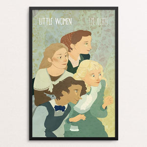 "Little Women by Lia Marcoux 12"" by 18"" Print / Framed Print Recovering the Classics"
