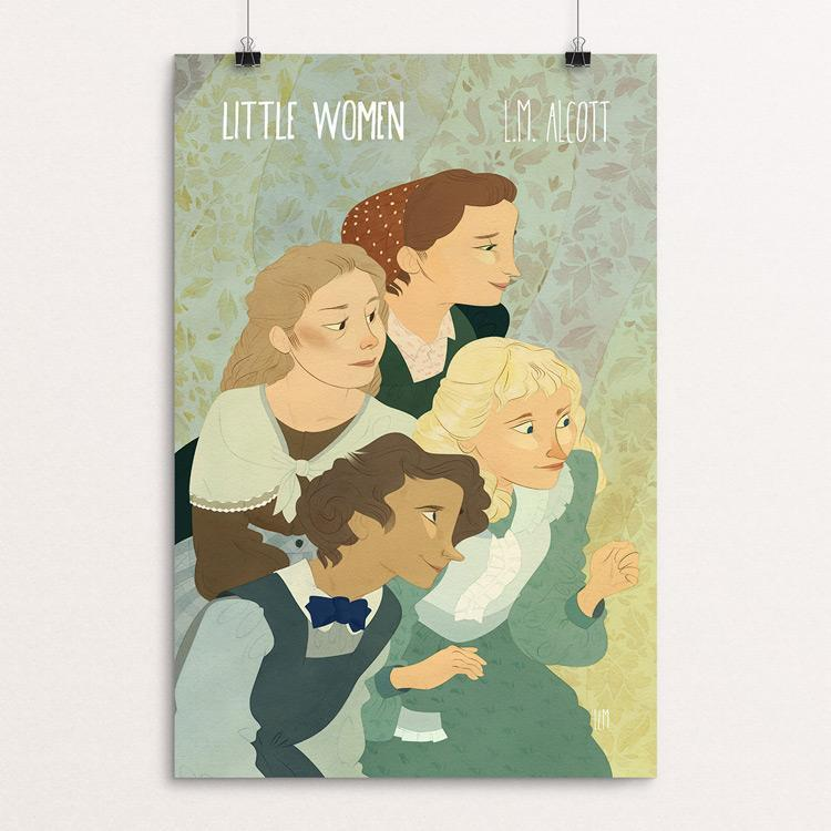 "Little Women by Lia Marcoux 12"" by 18"" Print / Unframed Print Recovering the Classics"