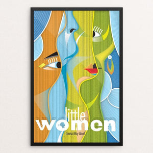 "Little Women by Rade Design 12"" by 18"" Print / Framed Print Recovering the Classics"
