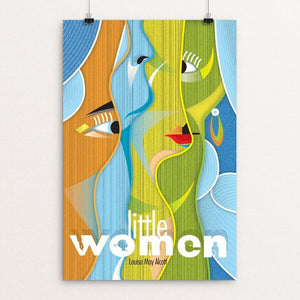 "Little Women by Rade Design 12"" by 18"" Print / Unframed Print Recovering the Classics"