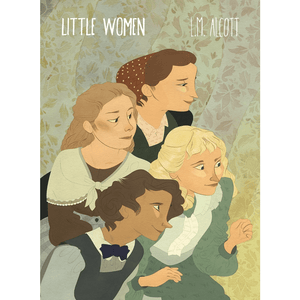 Little Women Sticker by Lia Marcoux 3x4 inch / 1 Pack Stickers Recovering the Classics