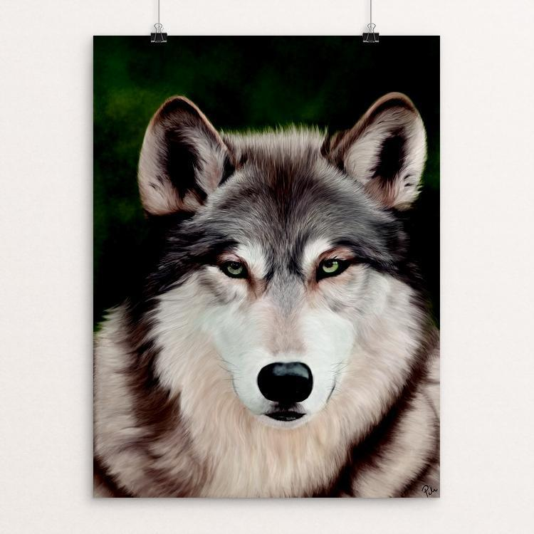 "Lobo by Pilar Cuba 12"" by 16"" Print / Unframed Print Join the Pack"