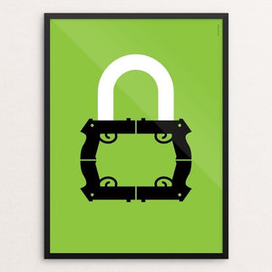 "Lock 2 by Luis Prado 18"" by 24"" Print / Framed Print The Gun Show"