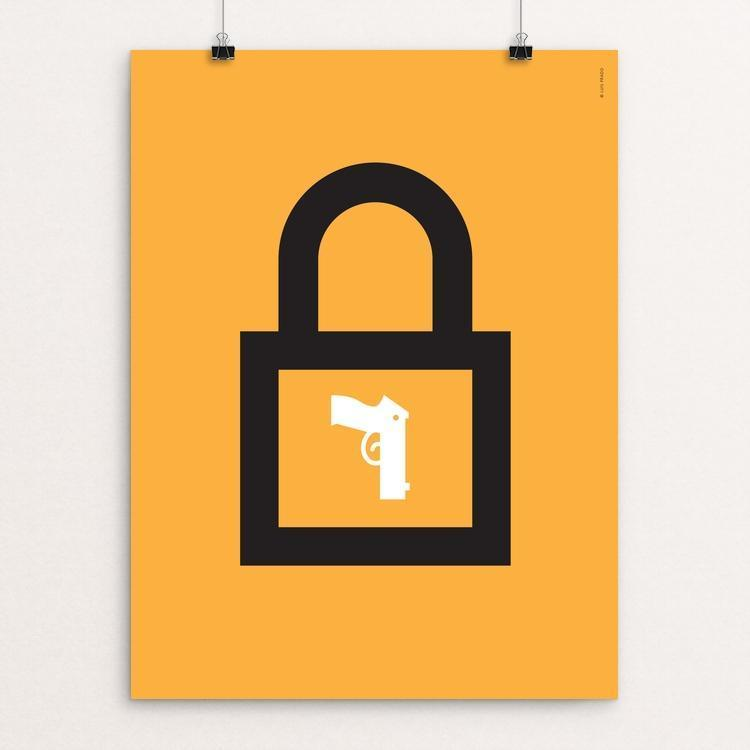 "Lock by Luis Prado 18"" by 24"" Print / Unframed Print The Gun Show"