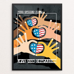 "Love and Compassion by Vikram Nongmaithem 12"" by 16"" Print / Framed Print What Makes America Great"