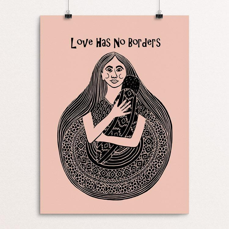 "Love Has No Borders by Renee Fly 12"" by 16"" Print / Unframed Print Creative Action Network"