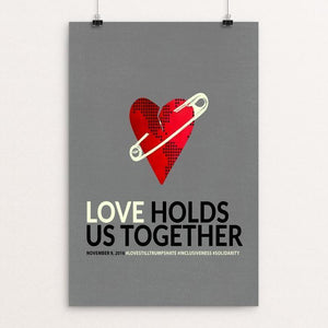 "Love Holds Us Together by Liza Donovan 12"" by 18"" Print / Unframed Print Power to the Poster"