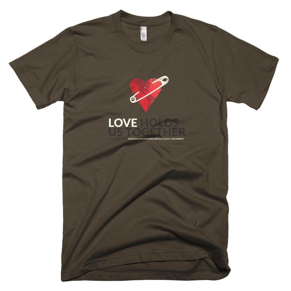 Love Holds Us Together Men's T-Shirt by Liza Donovan Heather Grey / XS T-Shirt Power to the Poster