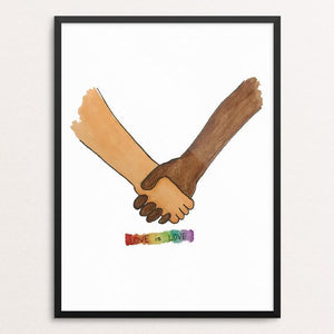 "Love Is Love by Christopher Wachter 12"" by 16"" Print / Framed Print Creative Action Network"