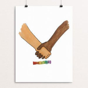 "Love Is Love by Christopher Wachter 12"" by 16"" Print / Unframed Print Creative Action Network"