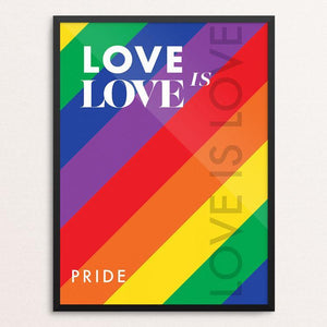 "Love is Love by MarcAnthony Bermudez 12"" by 16"" Print / Framed Print Creative Action Network"