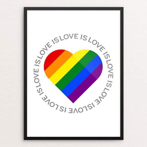 "Love is Love is Love... by Donavon West 18"" by 24"" Print / Framed Print Creative Action Network"