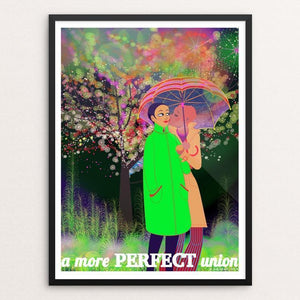 "Love is Love is Love [F] by Aditi Raychoudhury 12"" by 16"" Print / Framed Print Creative Action Network"