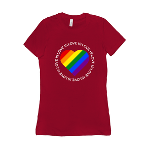 Love is Love is Love... Women's T-Shirt by Donavon West