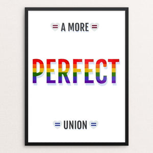 "Love Knows No Gender by Addison Miller 12"" by 16"" Print / Framed Print A More Perfect Union"