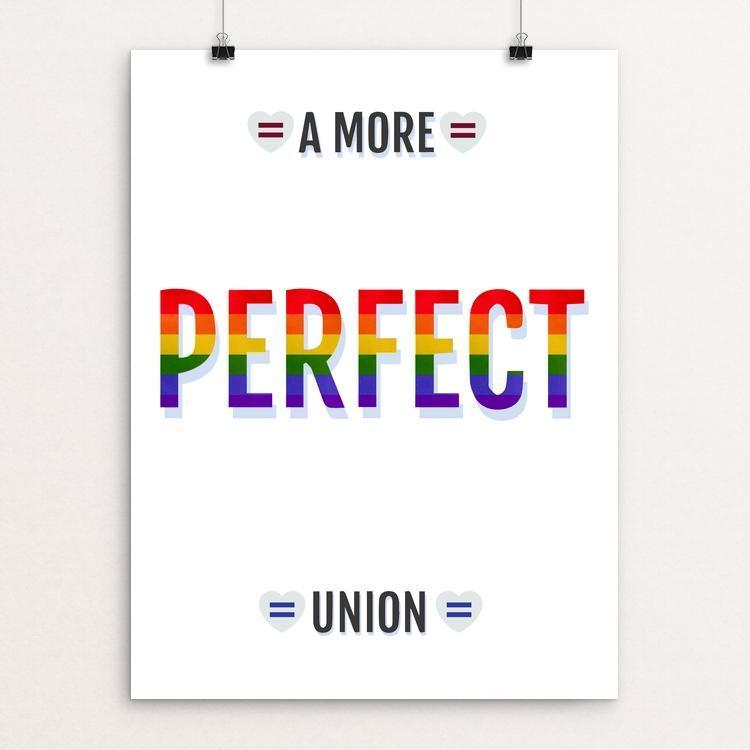 "Love Knows No Gender by Addison Miller 12"" by 16"" Print / Unframed Print A More Perfect Union"