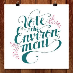 "Love Letter for the Environment by Jessica Vollendorf 12"" by 12"" Print / Unframed Print Vote the Environment"