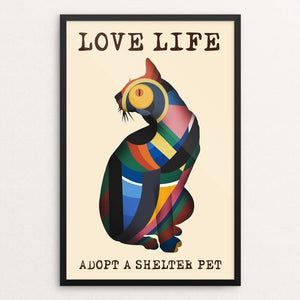 "Love Life 3 by Kevin Mcgeen 12"" by 18"" Print / Framed Print Power to the Poster"