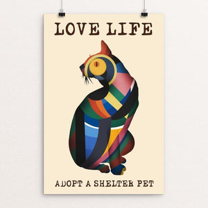 "Love Life 3 by Kevin Mcgeen 12"" by 18"" Print / Unframed Print Power to the Poster"