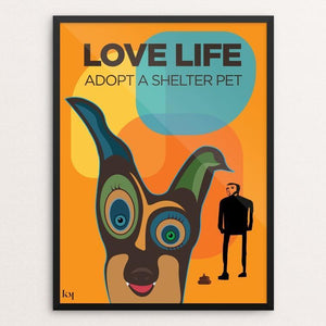 "Love Life by Kevin Mcgeen 12"" by 16"" Print / Framed Print Creative Action Network"