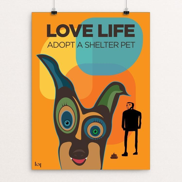 "Love Life by Kevin Mcgeen 12"" by 16"" Print / Unframed Print Creative Action Network"