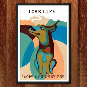 "Love Life by Kevin Mcgeen 12"" by 18"" Print / Framed Print Power to the Poster"