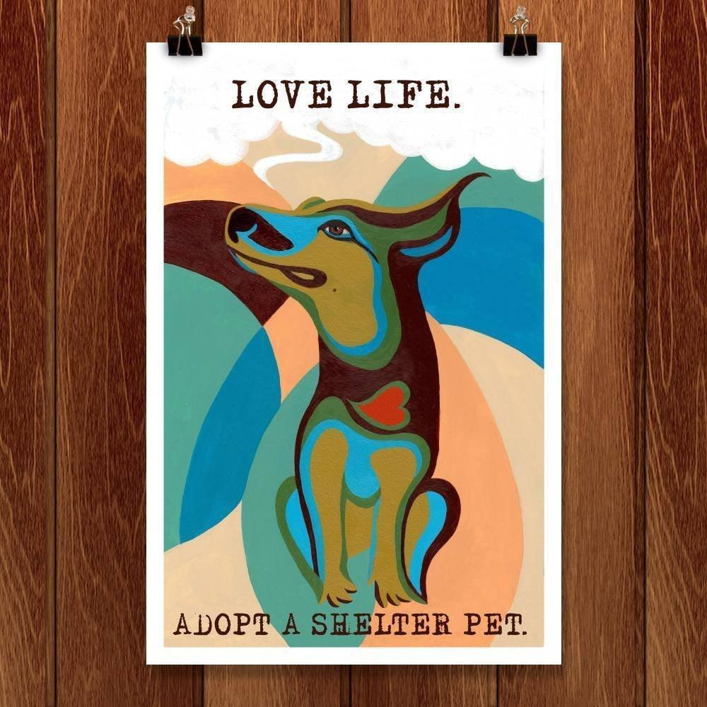 "Love Life by Kevin Mcgeen 12"" by 18"" Print / Unframed Print Power to the Poster"