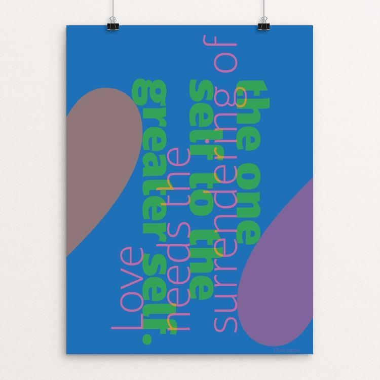"Love Needs by Chris Lozos 12"" by 16"" Print / Unframed Print Love Needs"