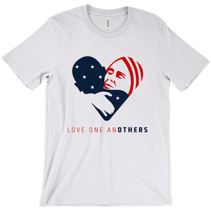 Love one anOTHERS Men's T-Shirt by Jake Van Yahres Ash / Extra Small (XS) T-Shirt Creative Action Network