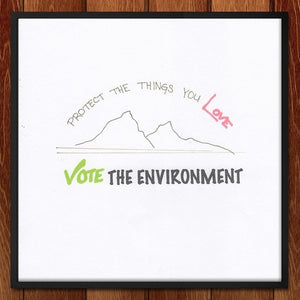 "Love the Environment by Laura Johnson 12"" by 12"" Print / Framed Print Vote the Environment"