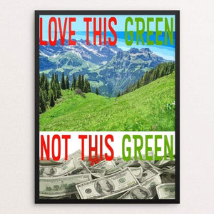 "Love This Green by Atabey Sanchez-Haiman 18"" by 24"" Print / Framed Print Green New Deal"